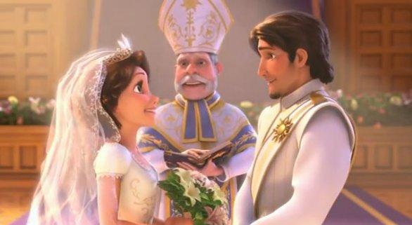 Nozze tra Rapunzel e Flynn Ryder